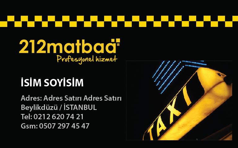 Taksici Kartviziti