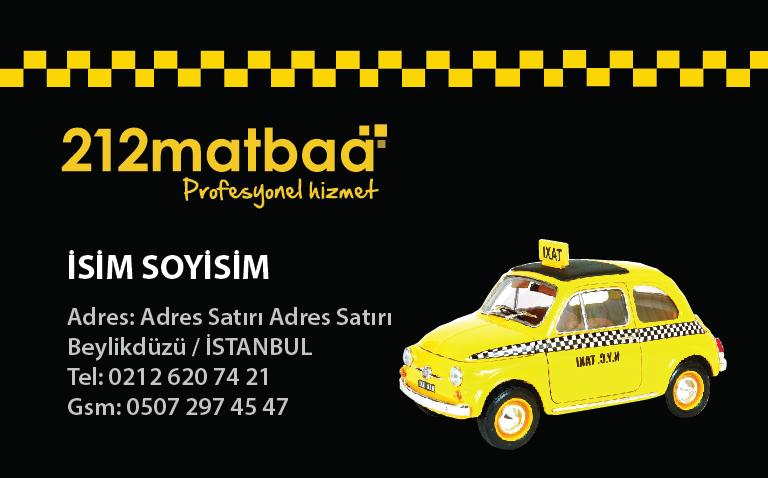 Taksici Kartviziti 2